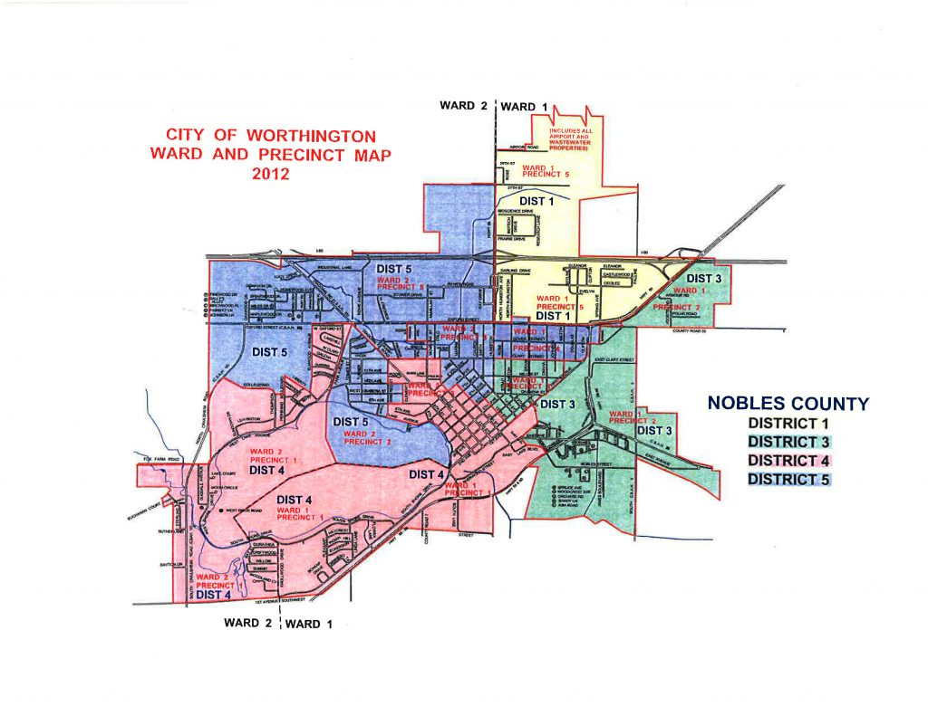 City of Worthington Ward and Precinct Map