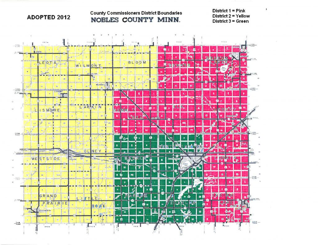 County Commissioners District Boundaries Map