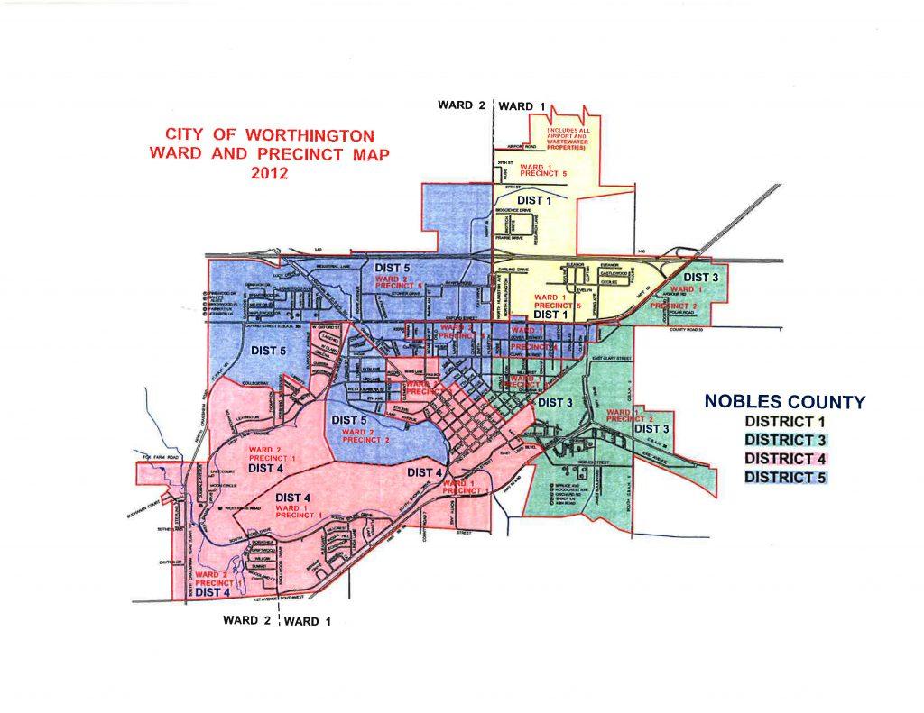 City of Worthington Ward and Precinct Map